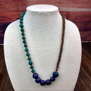 Green/Blue Açaí Seed Necklace